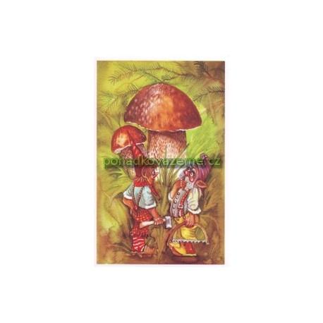 pohlednice - Hřiboví skřítci