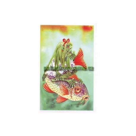 pohlednice - Vodníček z říčky Bělé